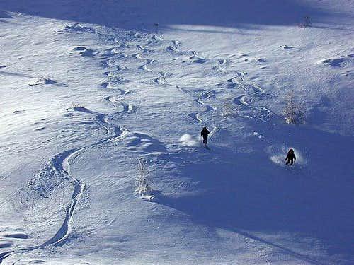 Enjoying the best slopes...