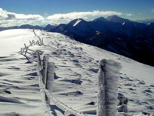 On the summit of Peitlernock....