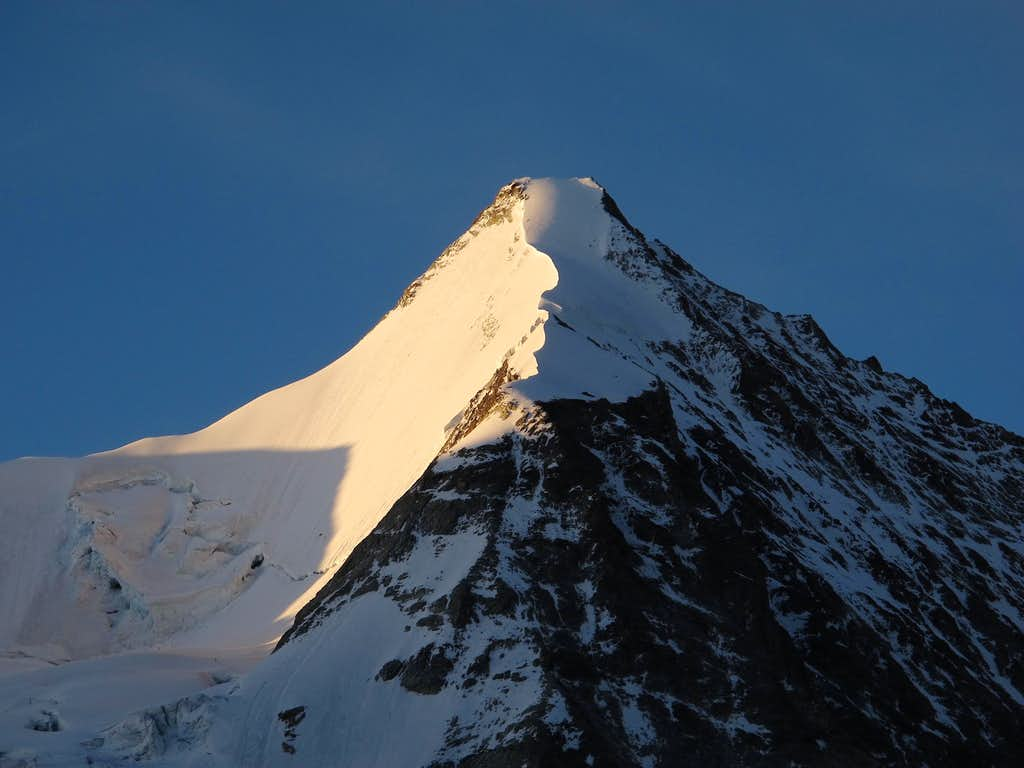 Obergabelhorn in early morning light