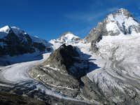 The glaciers of Durand and Grand Cornier