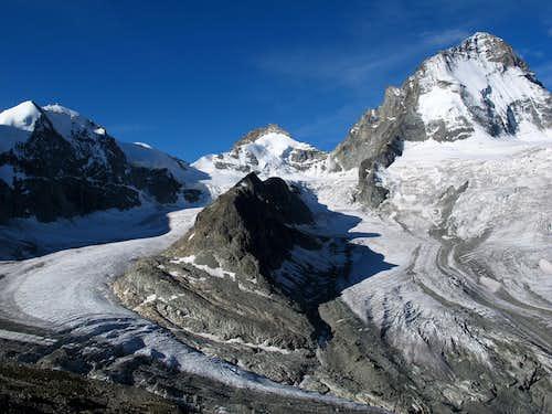 The glaciers of Durand and Grand Cornier