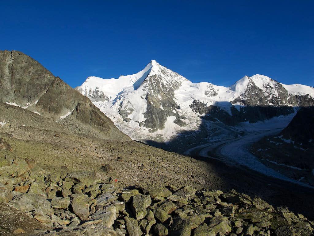 On Grand Mountet; still half an hour away from the hut