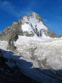 Close-up on Dent Blanche from the Grand Mountet