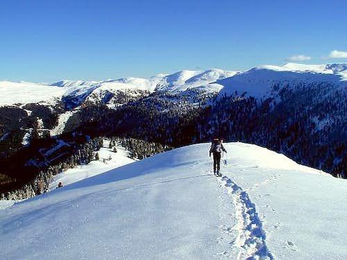 The summit ridge (SE) of...
