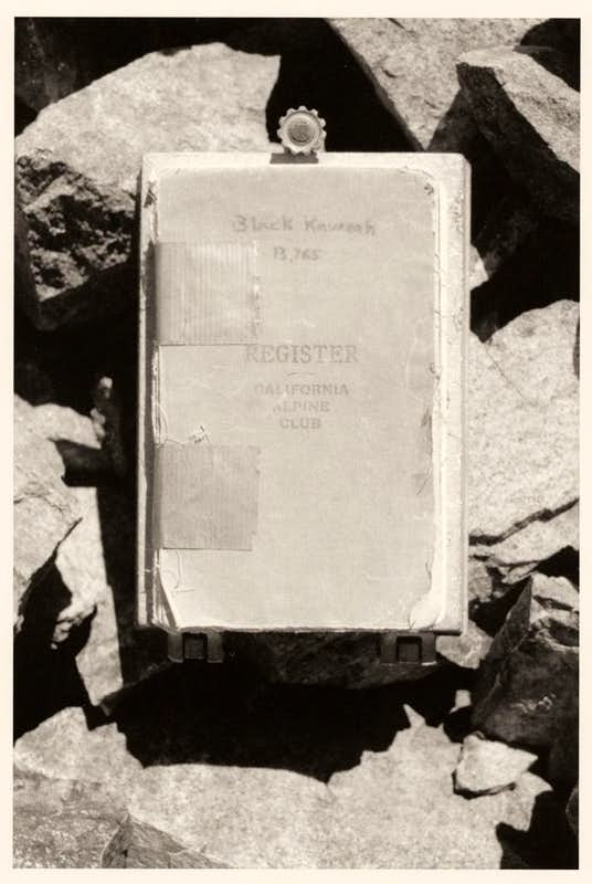 Black Kaweah Summit Register in 2008