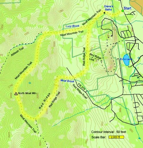 Moat Mt trail Map