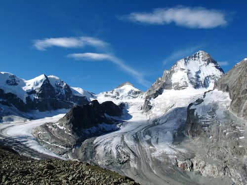 The glacial arena in front of Grand Mountet