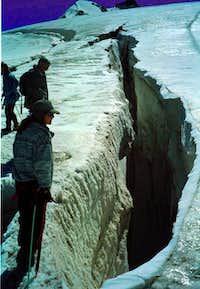 A crevass along the normal...