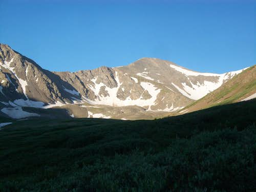 Grays Peak at 6:30am