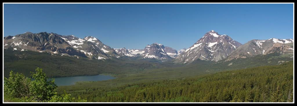 St. Mary Lake and rugged peaks