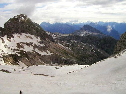 Lopa and its west ridge from...