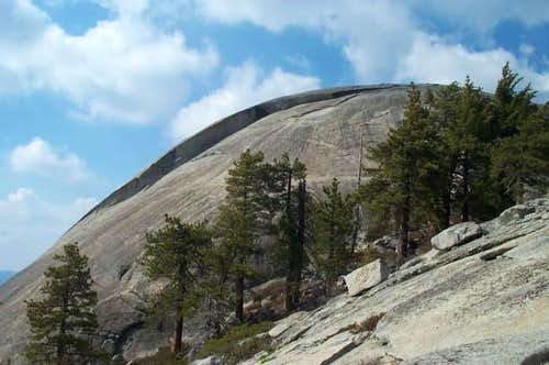 Looking up at Little Baldy