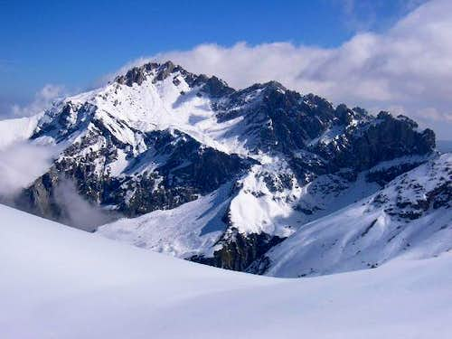 Monte Prena - W side in winter