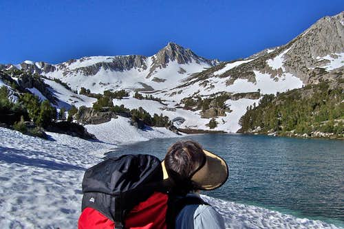 My wife by Timberline Tarns