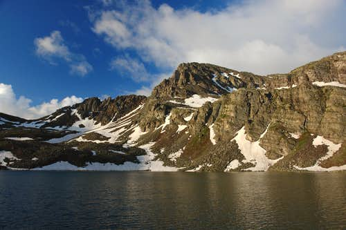 Malamute Peak and Cathedral Lake