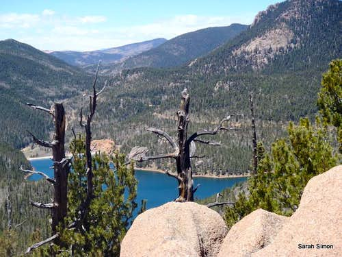 Rosemont Reservoir from summit area