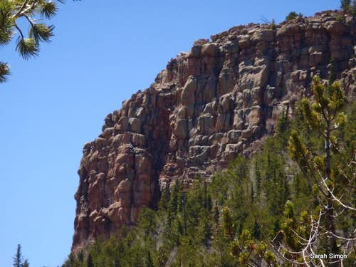 South-facing outcrop