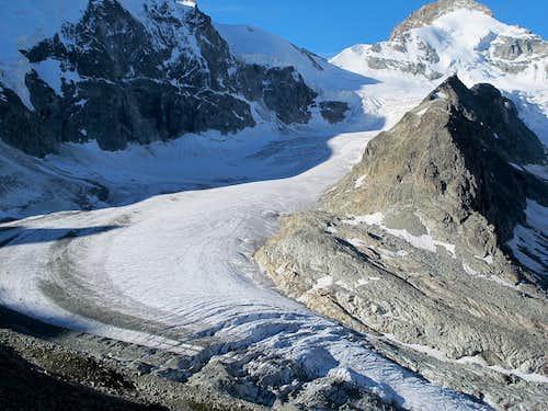 Glacier Durand and Roc Noir (3124m)