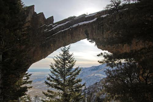 Natural arch, King Mountain, Idaho