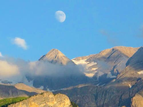 Moon and mountain...