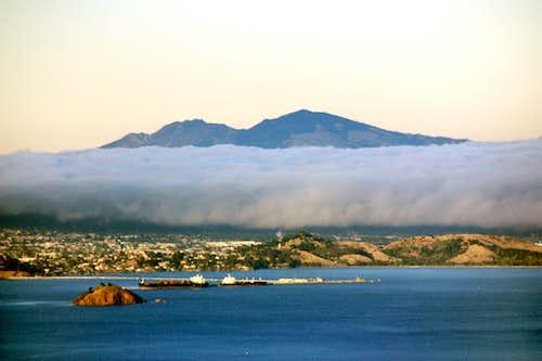 Fog belt below Mount Diablo