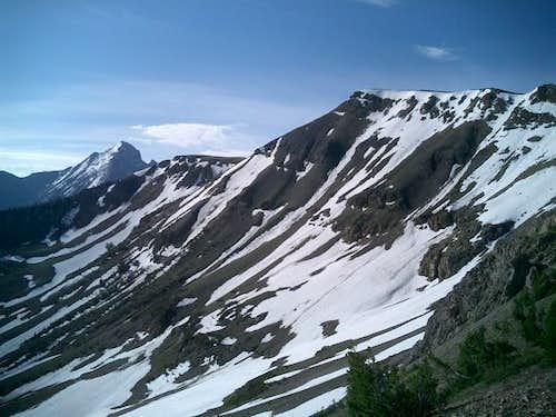 Descending Summit Creek Peak...