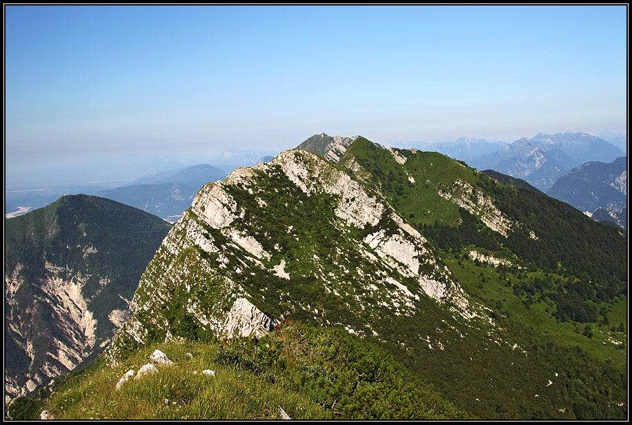 The view from Monte Postoucicco / Postovcic towards the W