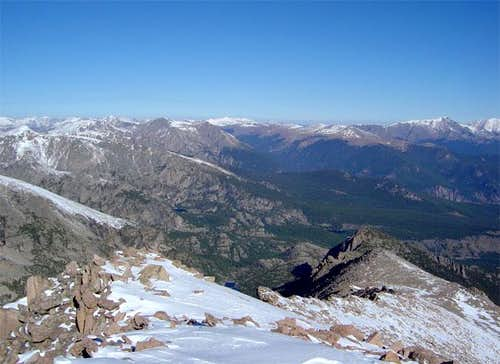 Storm Peak\'s north ridge...