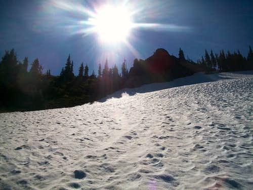 Nearing the summit ridge