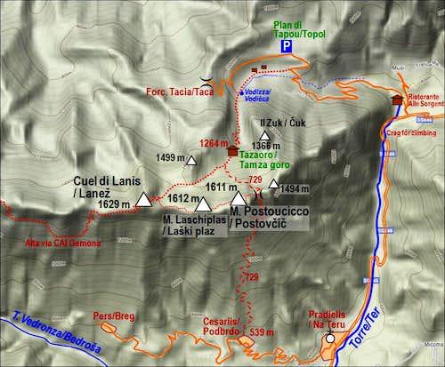 Map of Lanez/Postovcic