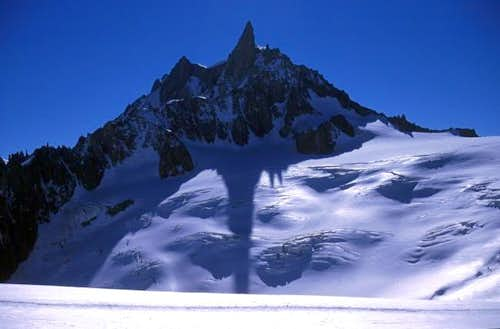 Dent du Geant from below th...