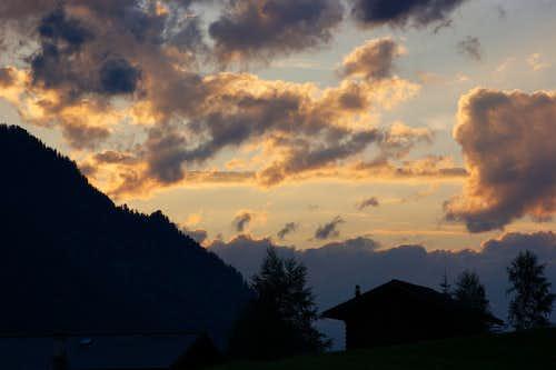 Evolène sunset