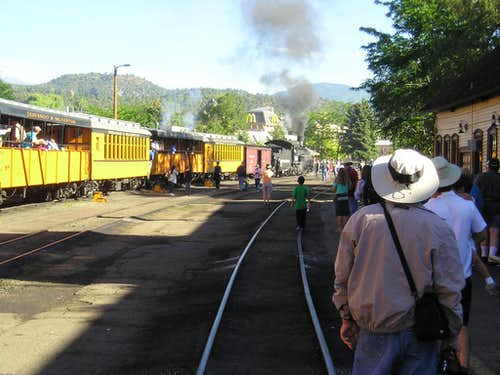 """Old 481"" at Durango  Station"