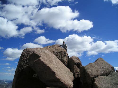 Climbing buddy Bob summit shot