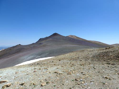 Approaching the two summits of Wheeler Peak