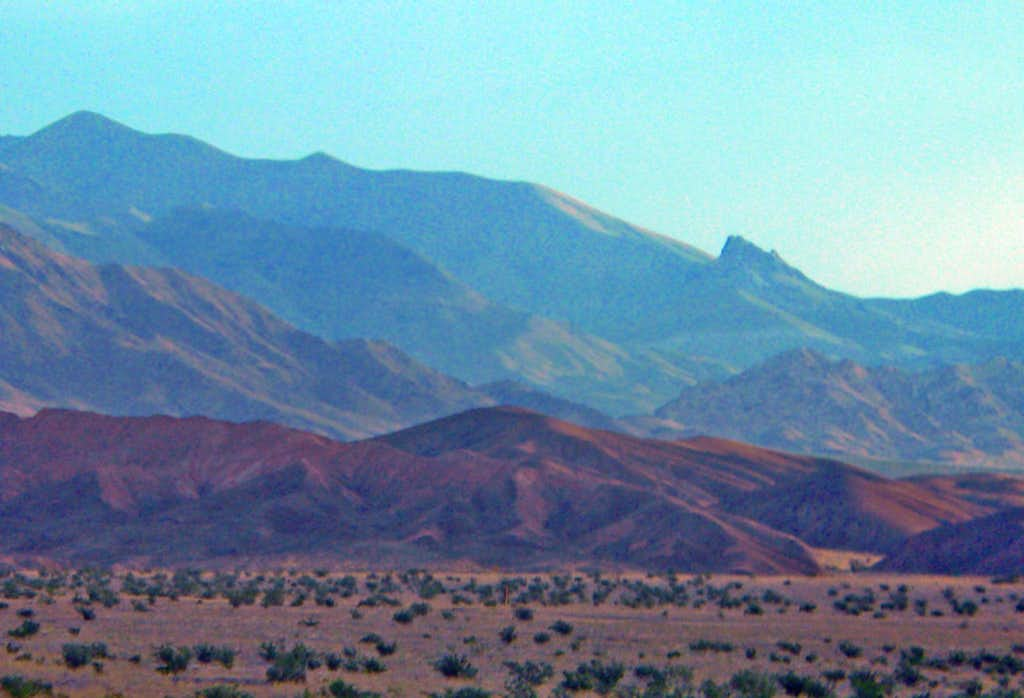 Daylight Butte, right,  from Death Valley