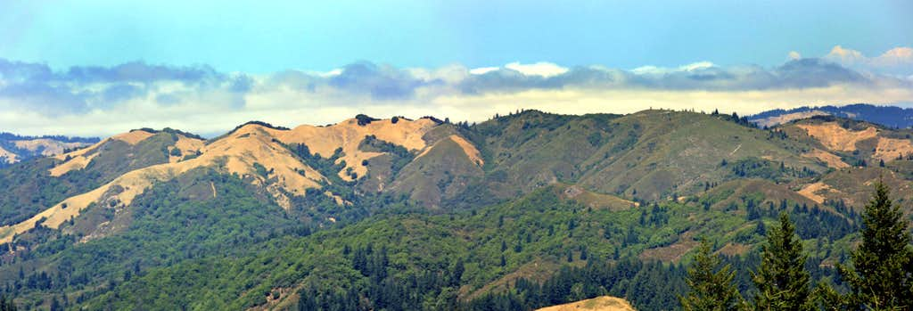 Pine Mtn. Ridge and Pine Mtn. from the Bolinas Ridge