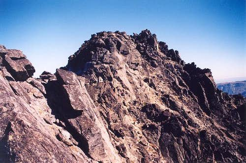 A view of the summit rocks....