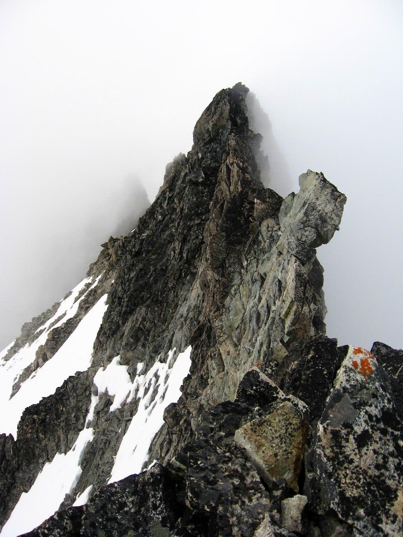 The serrated summit ridge of Mt. Logan
