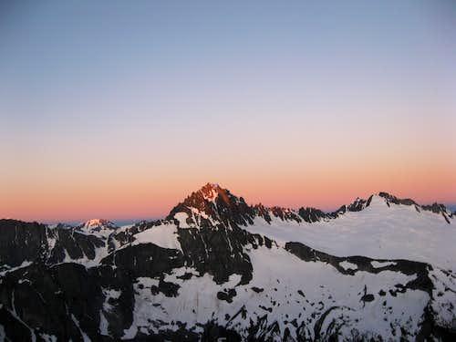 Buckner at sunrise from Logan