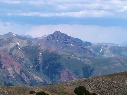 Teocalli Mountain from Scarp Ridge