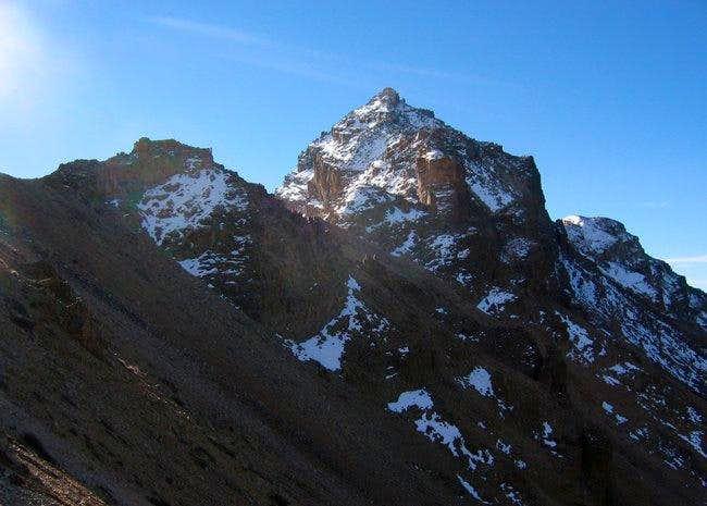 Nearing the north ridge, the...