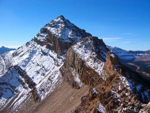 Looking along the north ridge...