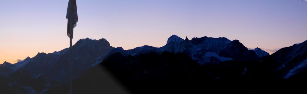 Evening view from cabane des Dix