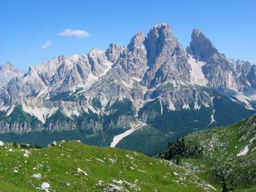 Monte Cristallo group from S...