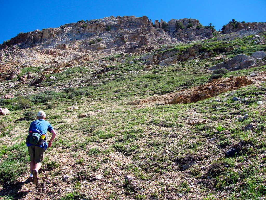 Off-trail hiking