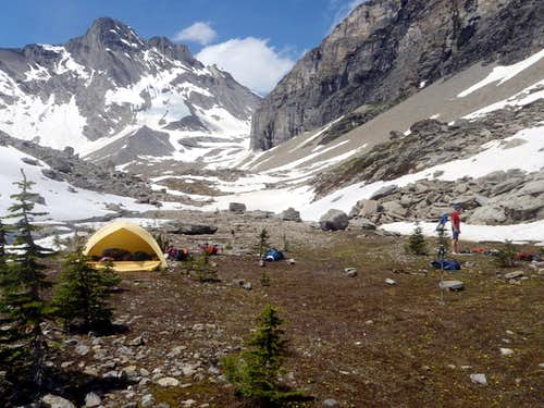Bivy -SW of Princess Mary