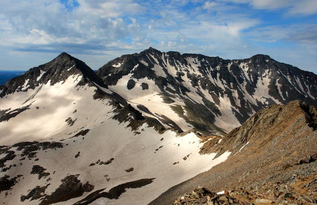 Gladstone Peak, Mount Wilson and El Diente Peak from Wilson Peak