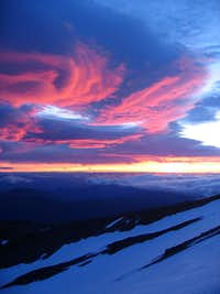 Sunrise on the Bolam glacier