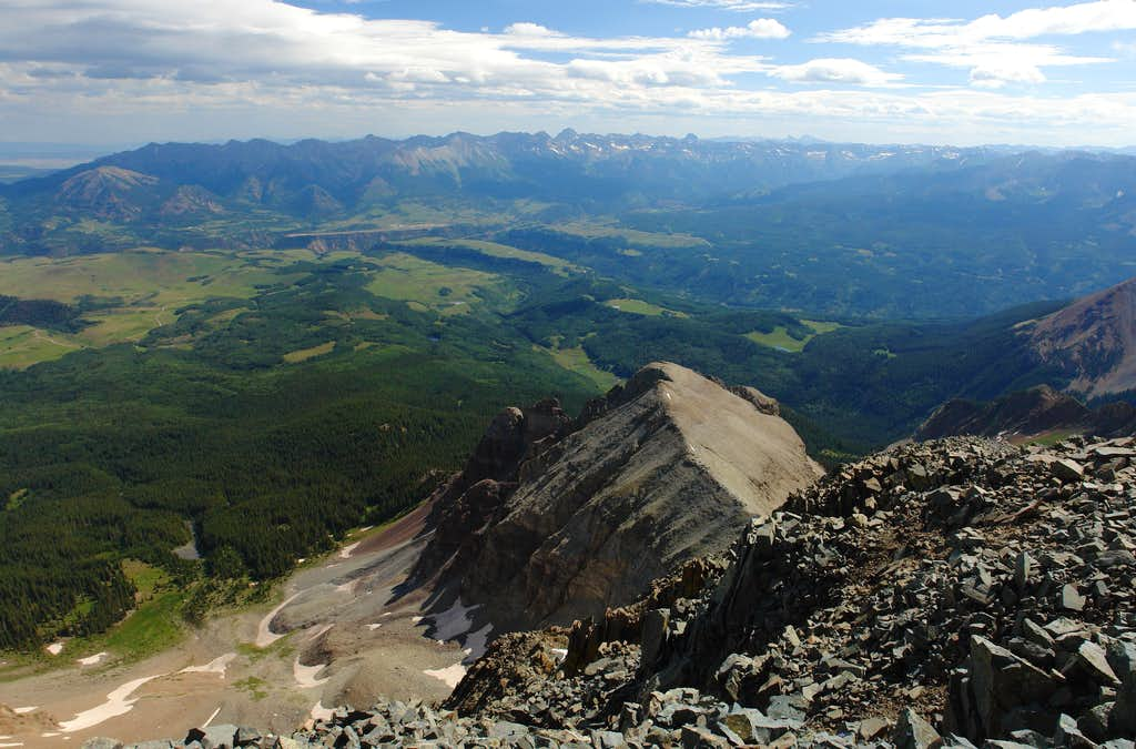 Wilson Peak: summit view northeast